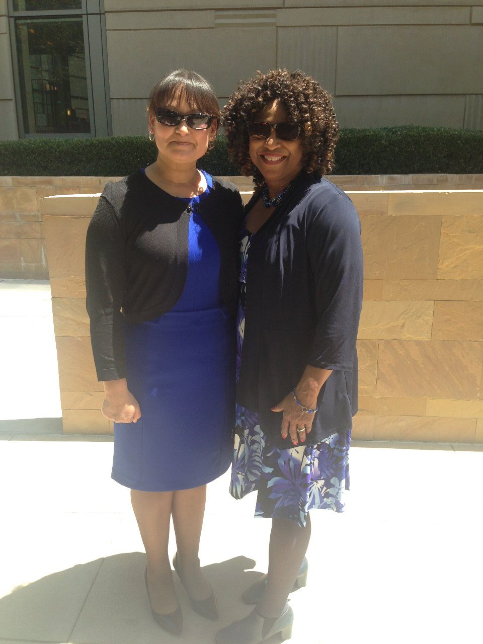 Irma Sanchez and Attorney Pamela Y. Price, June 2015